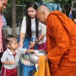 Alms for the Buddhist monks